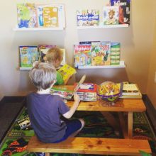 Our waiting room has toys and books for all ages.